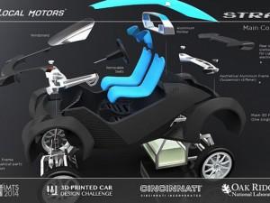 Strati, chiếc xe được in 3d đầu tiên trên thế giới